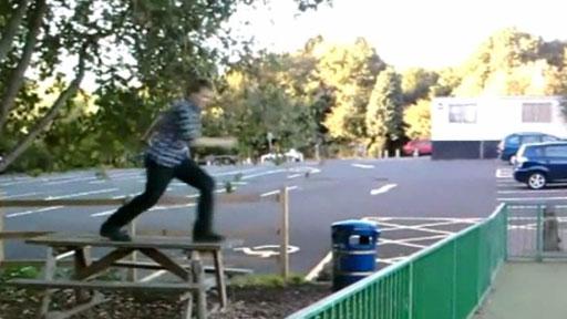 Salto tipo parkour
