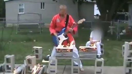 Guitarrista karateka