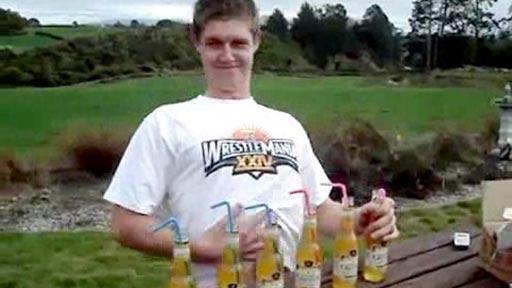 6 botellines de vodka