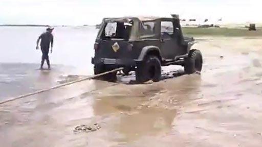 Jeep atascado