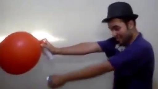 Explosión en globo