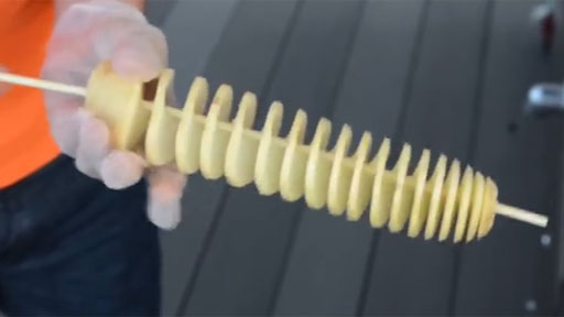 Patata frita en espiral