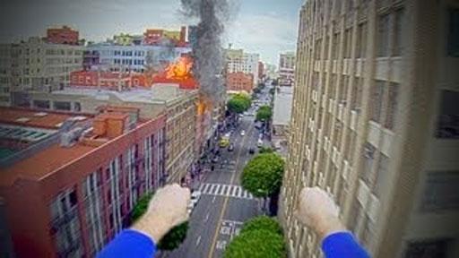 Superman con GoPro