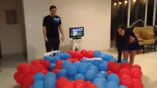 Colchón de globos