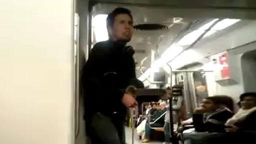 En el Metro de Chile
