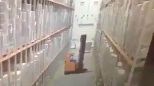 Accidente en almacén