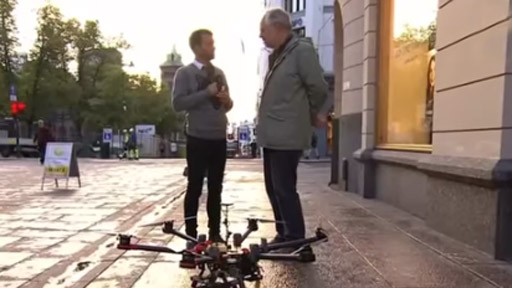 Atropello de un dron