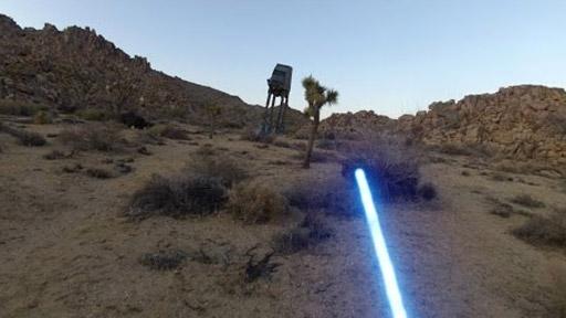 Jedi con una GoPro