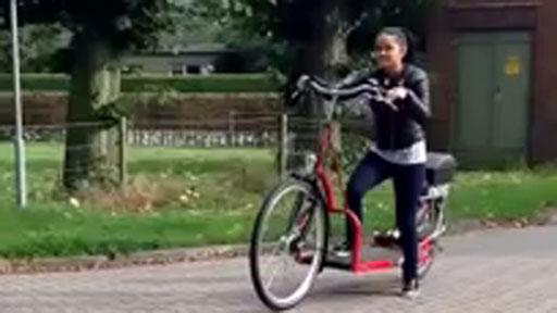 Caminar en bicicleta