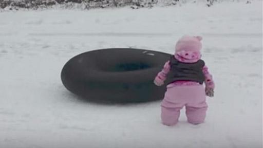 Estampa en la nieve