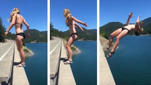 Salto sobre el puente