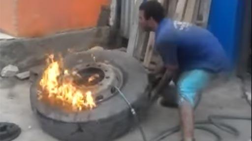 Inflar con fuego