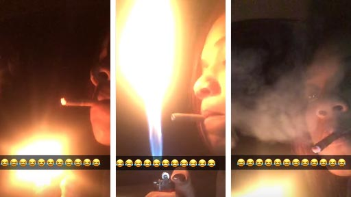 Mira qué guay soy encendiendo un cigarro