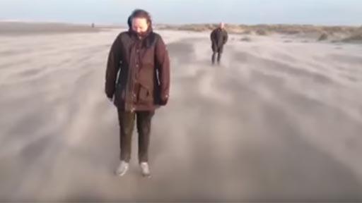 Una curiosa ilusión producida por la arena y el viento