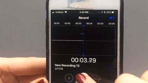 Curioso experimento con un iPhone