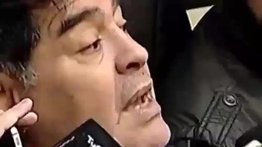 Maradona en las carreras de coches