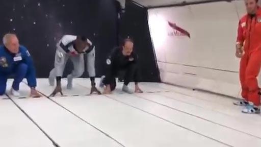 Usain Bolt corriendo sin gravedad